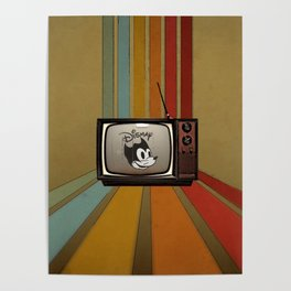 fallout Dismay cartoon on vintage tv Poster