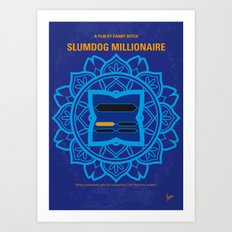 No708 My Slumdog Millionaire minimal movie poster Art Print