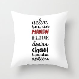 terrasen Throw Pillow
