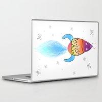 rocket Laptop & iPad Skins featuring Rocket by Dorrith Rem