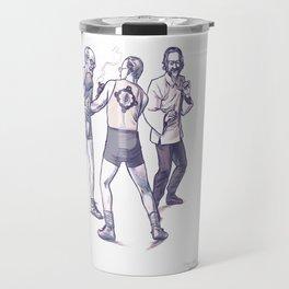 Freud, Jung, and Watts, walk into a bar... Travel Mug