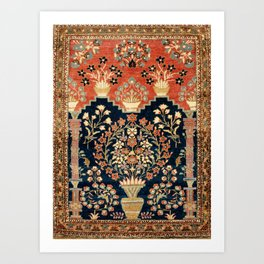 Kashan Poshti  Antique Central Persian Rug Print Art Print