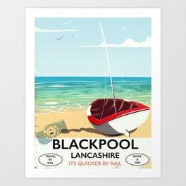 Blackpool, Lancashire, Rail poster Art Print