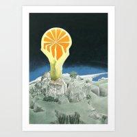 Orange city Art Print