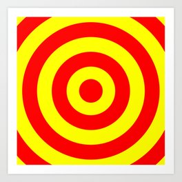 Target (Red & Yellow Pattern) Art Print