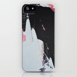 Profoundly [2]: a vibrant abstract piece in blues magenta and orange by Alyssa Hamilton Art iPhone Case