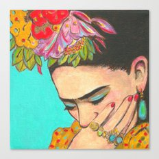 FRIDA KAHLO THINKS  Canvas Print