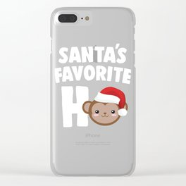 Faveho monkey Clear iPhone Case