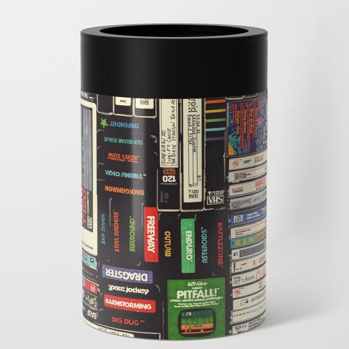 Cassettes, VHS & Games Can Cooler