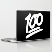 emoji Laptop & iPad Skins featuring 100 EMOJI WHITE by Nolan Dempsey