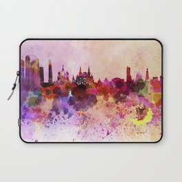 Moscow skyline in watercolor background Laptop Sleeve