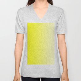Yellow to Pastel Yellow Vertical Linear Gradient Unisex V-Neck
