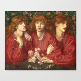 "Dante Gabriel Rossetti ""Rosa Triplex: A triple portrait of May Morris"" Canvas Print"