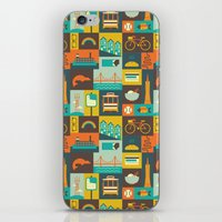 san francisco iPhone & iPod Skins featuring San Francisco by Ariel Wilson