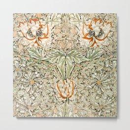 Honeysuckle pattern (1876) by William Morris Metal Print