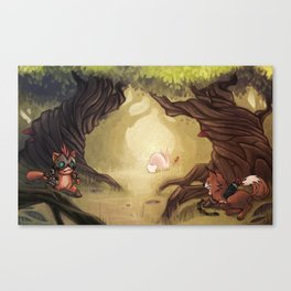 Catching the rabbit Canvas Print