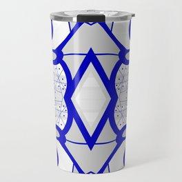 Blue morning - abstract decorative pattern Travel Mug