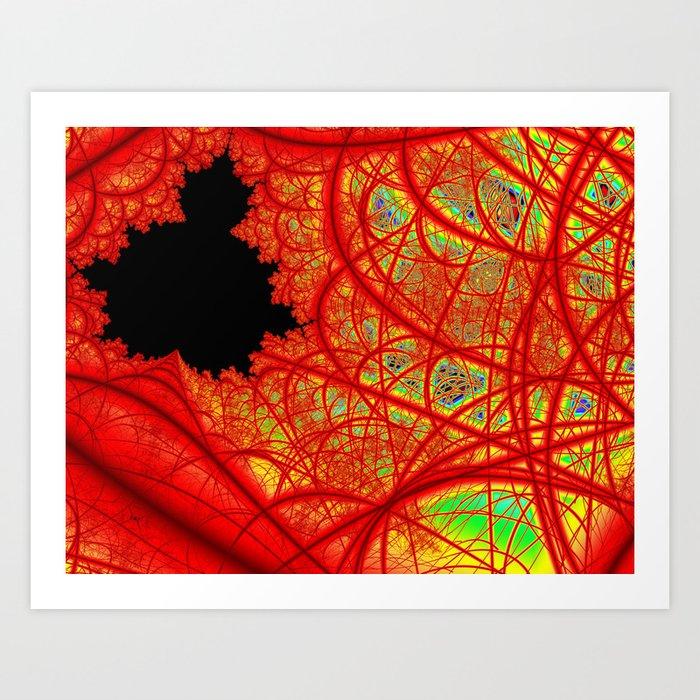 Rainbow Fractal 2 Art Print