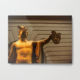 Perseus with Medusa's Head Metal Print
