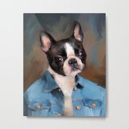 Chic Boston Terrier Metal Print