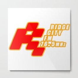 Ridge City FM 76.5 MHz Retro Gaming Video Game Metal Print