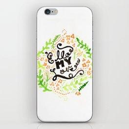 'Ello My Love Typography Watercolour Print iPhone Skin
