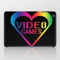 video games iPad Cases featuring love video games by seb mcnulty