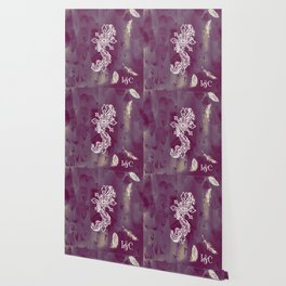 Gothic Cross: purple Wallpaper