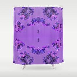 Flower Buds Violet Shower Curtain