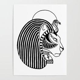 Tefnut Egyptian Goddess Poster