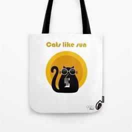 """Cats like sun"" by Qora & Shaï Tote Bag"