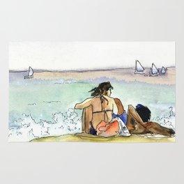 Scene at the beach Rug