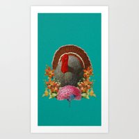 turkey Art Prints featuring Turkey by Jose Ramirez