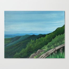 These mountains are home Canvas Print