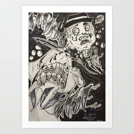 Captain Nemo's Tragic Demise Art Print