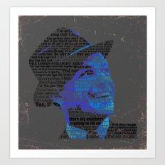 Typographic Icons - Frank Sinatra Art Print
