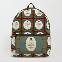 Prayer Backpack
