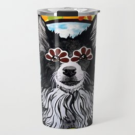 Gizmo the Border Collie Travel Mug