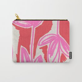 Red and Pink Sketchbook Botanical Carry-All Pouch