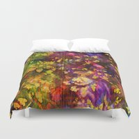 fabric Duvet Covers featuring Fabric VI by Artwork Of Sam