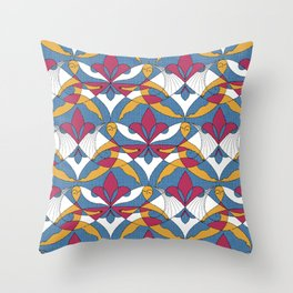 Interwoven XX_Raspberry Throw Pillow