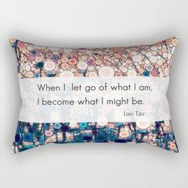 Daily Meditation Quote Rectangular Pillow