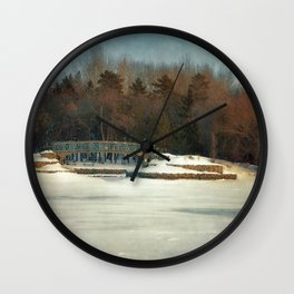 Winter Colours Wall Clock