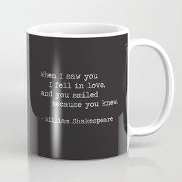 Shakespeare Quote: LOVE (white on black) Coffee Mug