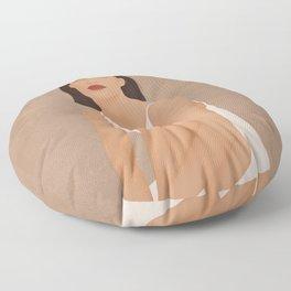 White Dress Floor Pillow