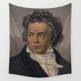 Vintage Portrait of Ludwig van Beethoven (1870) Wall Tapestry