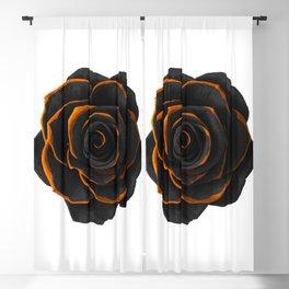 Black Rose 2 - Black And Gold Rose - Death - Minimal Black And Gold Decor - Dark Blackout Curtain