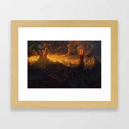 And in the Darkness Bind Them Framed Art Print
