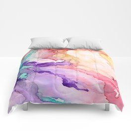 Color My World Watercolor Abstract Painting Comforters