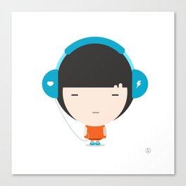 Helmet Girl: Jam Canvas Print